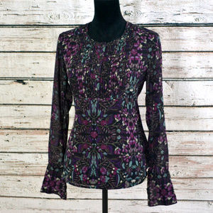 Converse Ikat Tile Long sleeve blouse PRETTY